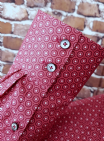 """Bill"" Red Circle Pattern Button down shirt"